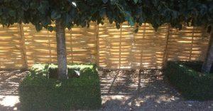 woven chestnut hurdles